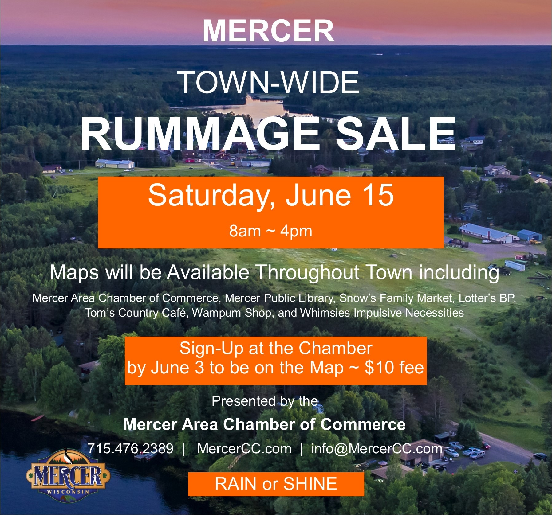 Town Wide Rummage Sale – Mercer Chamber of Commerce