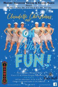 """The Claudettes """"Oh, What Fun!"""" @ Historic Ironwood Theatre"""