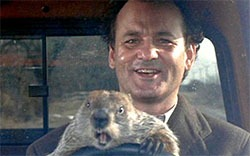 """First Friday Movie ~ """"Groundhog Day"""" @ Historic Ironwood Theatre"""