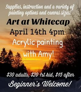 Wine and Paint/Art with Amy @ Whitecap Mountain Resort