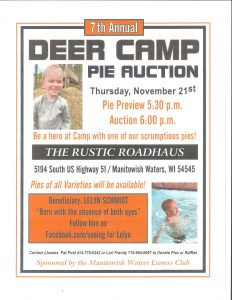 7th Annual Deer Camp Pie Auction - Rustic Roadhouse @ The Rustic Roadhouse