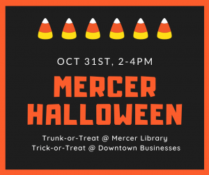 Halloween Trick-or-Treat and Trunk-or-Treat @ Mercer Library