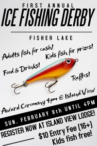 1st Annual Ice Fishing Derby - Island View Lodge @ Island View Lodge