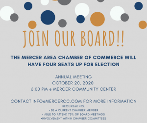 Annual Board Meeting @ Mercer Community Center
